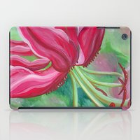 lily iPad Cases featuring lily by Beth Jorgensen