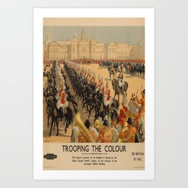 manifesto Trooping the Colour Art Print