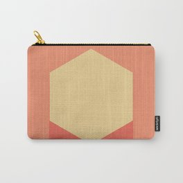 Cream Hex Carry-All Pouch