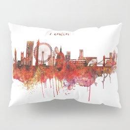 London Skyline watercolor Pillow Sham