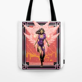 Dark Rift, The Dragon and Woman Wizard Tote Bag