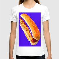 hot dog T-shirts featuring Hot Dog by Del Vecchio Art by Aureo Del Vecchio