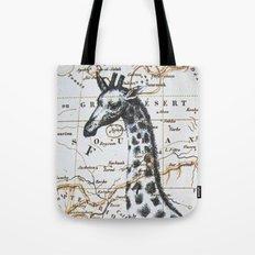 Giraffe in Africa: All Neck  Tote Bag