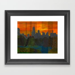 Sunset City (Chicago) Framed Art Print