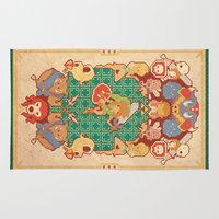 league of legends Area & Throw Rugs featuring Past Legends by Pinteezy