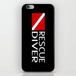 Diving: Diver Flag & Rescue Diver iPhone Skin