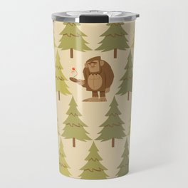 How Bigfoot Staves off Boredom Travel Mug