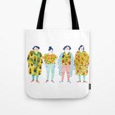 Ladies in yellow Tote Bag