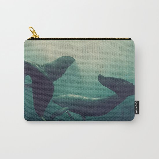 Swimming with whales Carry-All Pouch