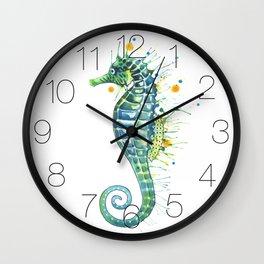 Seahorse: Green Wall Clock