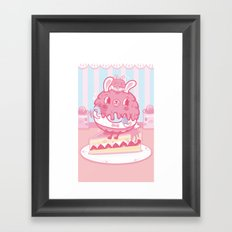 LULU Cake Bunny girls Framed Art Print