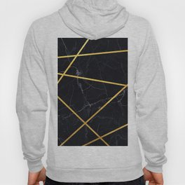 Black marble with gold lines Hoody