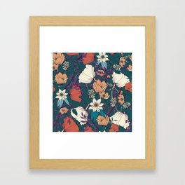 Botanical pattern 008 Framed Art Print
