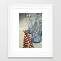coca cola Framed Art Prints featuring Coca~Cola by Heather McGuire
