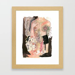 The Queen of Pinup Framed Art Print