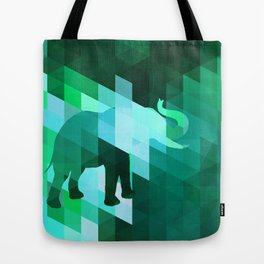Emerald Elephant Tote Bag