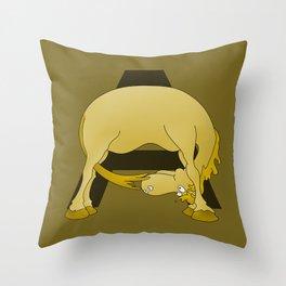 Pony Monogram Letter A Throw Pillow