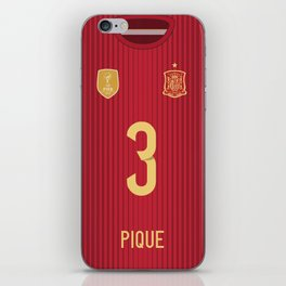 World Cup 2014 - Spain Pique Shirt Style iPhone Skin