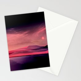 Moody Sunset Mountainscape Stationery Cards