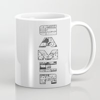 gamer Mugs featuring Gamer 2 by Angela Felan