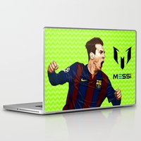 messi Laptop & iPad Skins featuring Lionel Messi by Just Agung