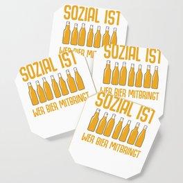Beer hops malt bottle of booze funny gift Coaster