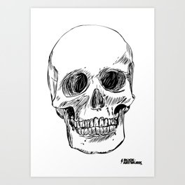 Simple Skull Art Print