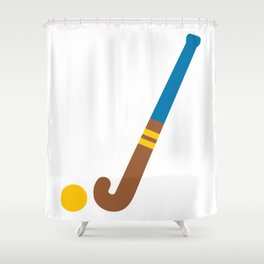 Field Hockey Emoji Shower Curtain