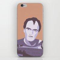 quentin tarantino iPhone & iPod Skins featuring Quentin Tarantino by Fanny Öqvist Westerberg