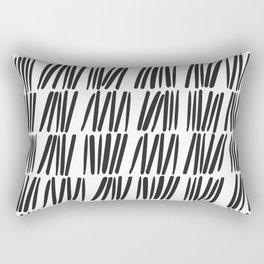 Tick 02 / Black and white print Rectangular Pillow
