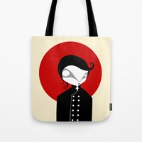 alone Tote Bags featuring Alone by Volkan Dalyan