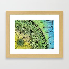 sunflower tangle Framed Art Print