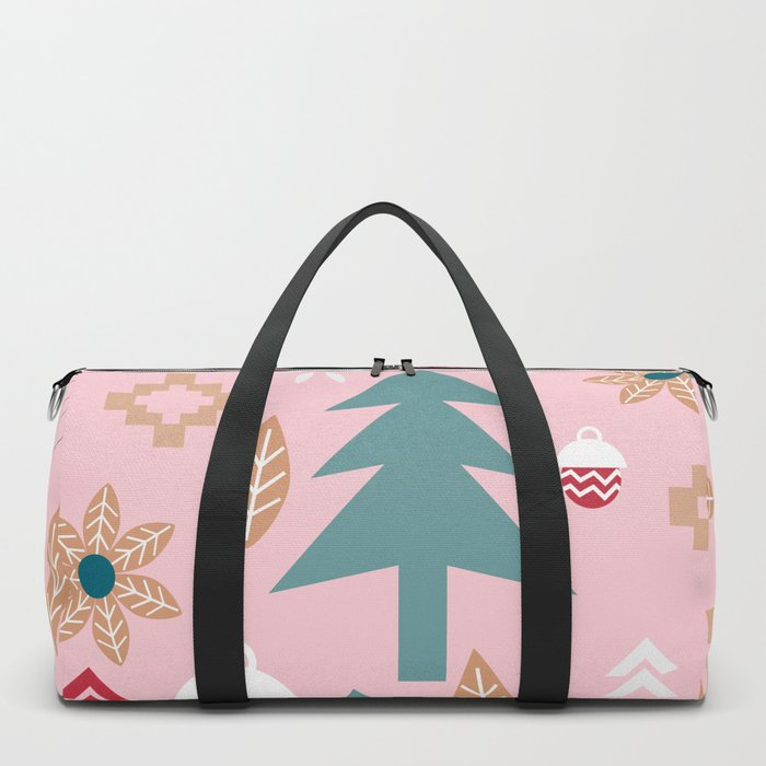 Cute Christmas in pink Duffle Bag