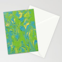 Paint Pouring 8 Stationery Cards