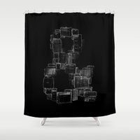 ampersand Shower Curtains featuring AMPersand by Jorge Garza