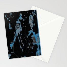 Blue Bird Lizard Stationery Cards