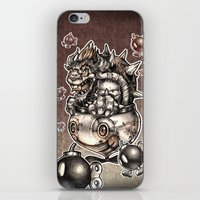 bombs away iPhone & iPod Skins featuring BOMBS AWAY BOWSER by Tim Shumate