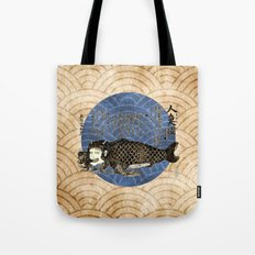 Japanese Mermaid Tote Bag
