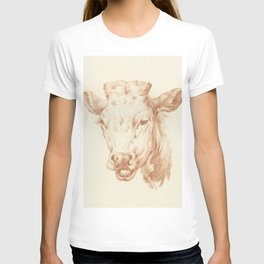 Vintage Cow Illustration T-shirt