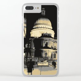 St Pauls Cathedral Clear iPhone Case