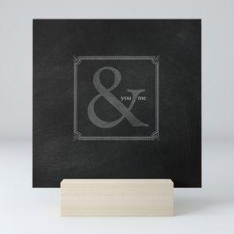 you & me Mini Art Print