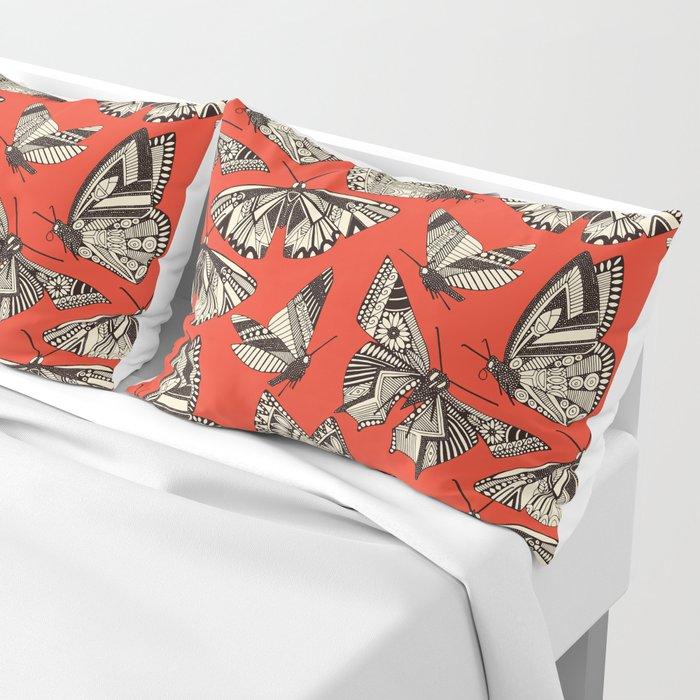 summer butterflies fire Pillow Sham