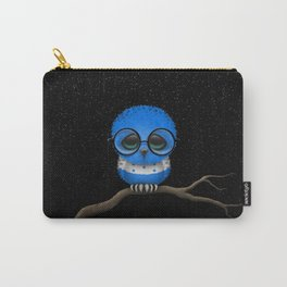 Baby Owl with Glasses and Honduras Flag Carry-All Pouch