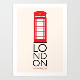 London Inspired: Phone Booth Art Print