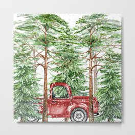 Woodland Snow Metal Print