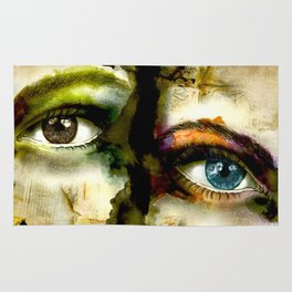 2Eyes2Faces by carographic Rug