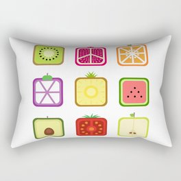 Squared Fruits Rectangular Pillow