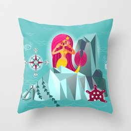 Mermaid's Call Throw Pillow