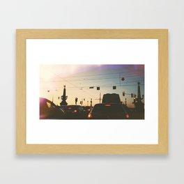 Saint-Petersburg traffic Framed Art Print