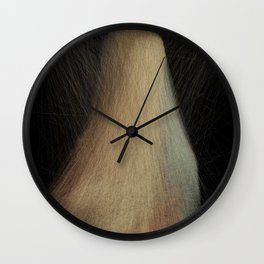 Lady with Lines Wall Clock